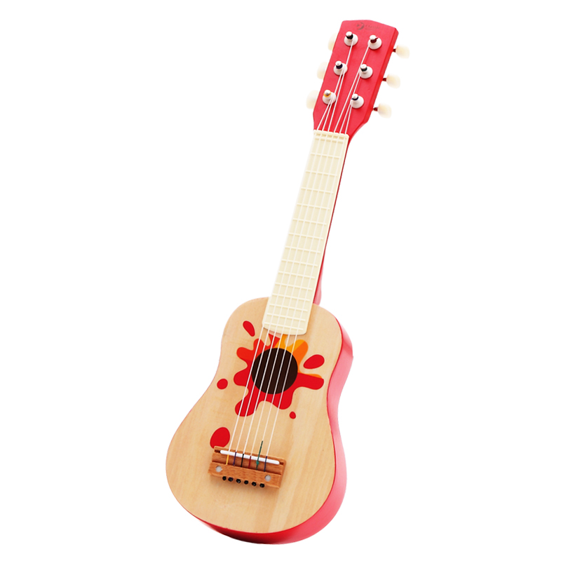 Brand Children Learning Exercising Guitar Basswood Wood Kids 6 Strings Real Toys Acoustic Guitars China Guitarra In Toy Musical Instrument
