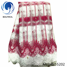 BEAUTIFICAL French Lace Fabric African Rhinestones Tulle Nigerian Embroidery ML34N152