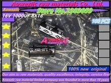 Aoweziic 100 STKS 16 V 1000 UF 8*16 hoge frequentie lage weerstand elektrolytische condensator 1000 UF 16 V 8X16