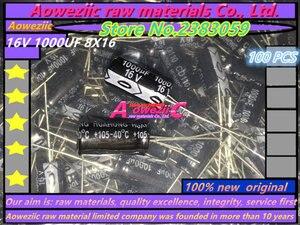 Image 1 - Aoweziic 100 STKS 16 V 1000 UF 8*16 hoge frequentie lage weerstand elektrolytische condensator 1000 UF 16 V 8X16
