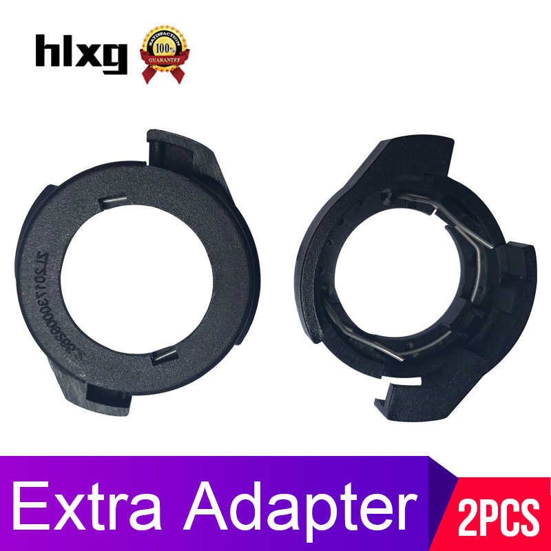 hlxg Car LED H7 Bulb Holders clip for Ford KUGA For VW passat B6 H7 led headlight base for Alfa Romeo Renault Megane adapter