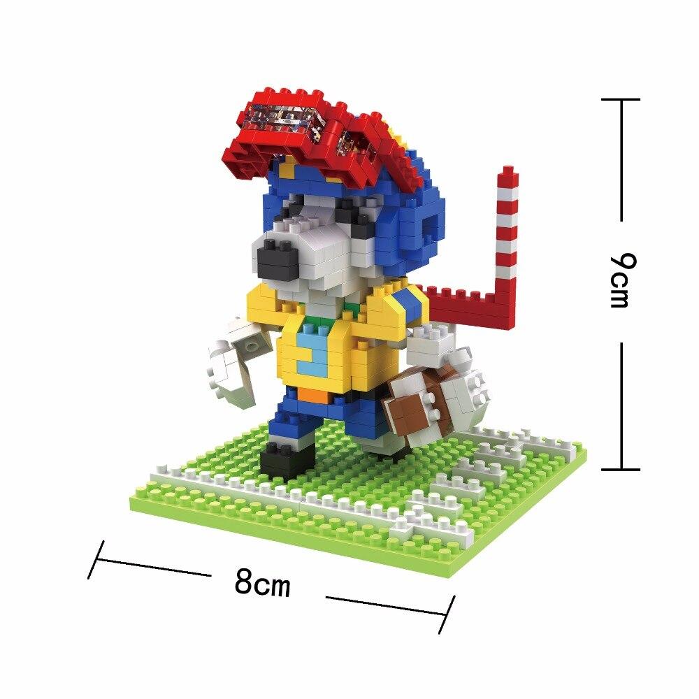 Боб мини Конструкторы Спорт собака DIY строительный кирпич аниме модель игрушки Micro Ко ...