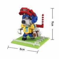 BOB мини блоки Спорт собака DIY Строительные кирпичи игрушечная аниме модель микро блоки милые девушки подарок Дети подарки Детские игрушки