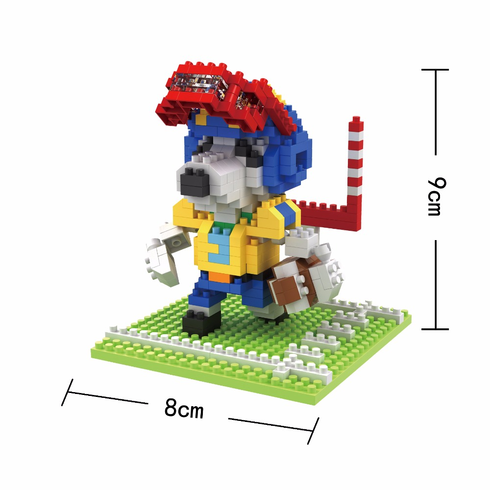 BOB Mini Blocks Sport Dog DIY Building Bricks Anime Model Toy Micro Blocks Cute Girls Present Kids Gifts Children TOYS 9543-9548 puppy canina juguetes towerbig toys russian anime doll action figures car parking puppy dog toy gifts everest dog children gifts