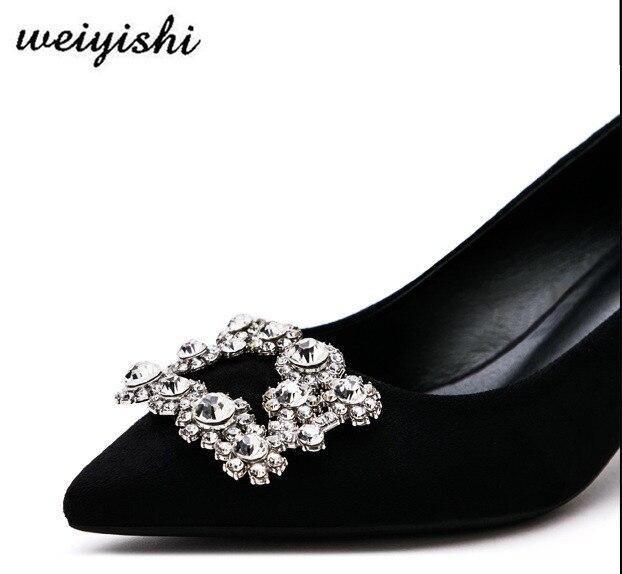 Moda Señora 016 Nuevas Weiyishi Marca Mujeres La Zapatos De 2018 qICZawR