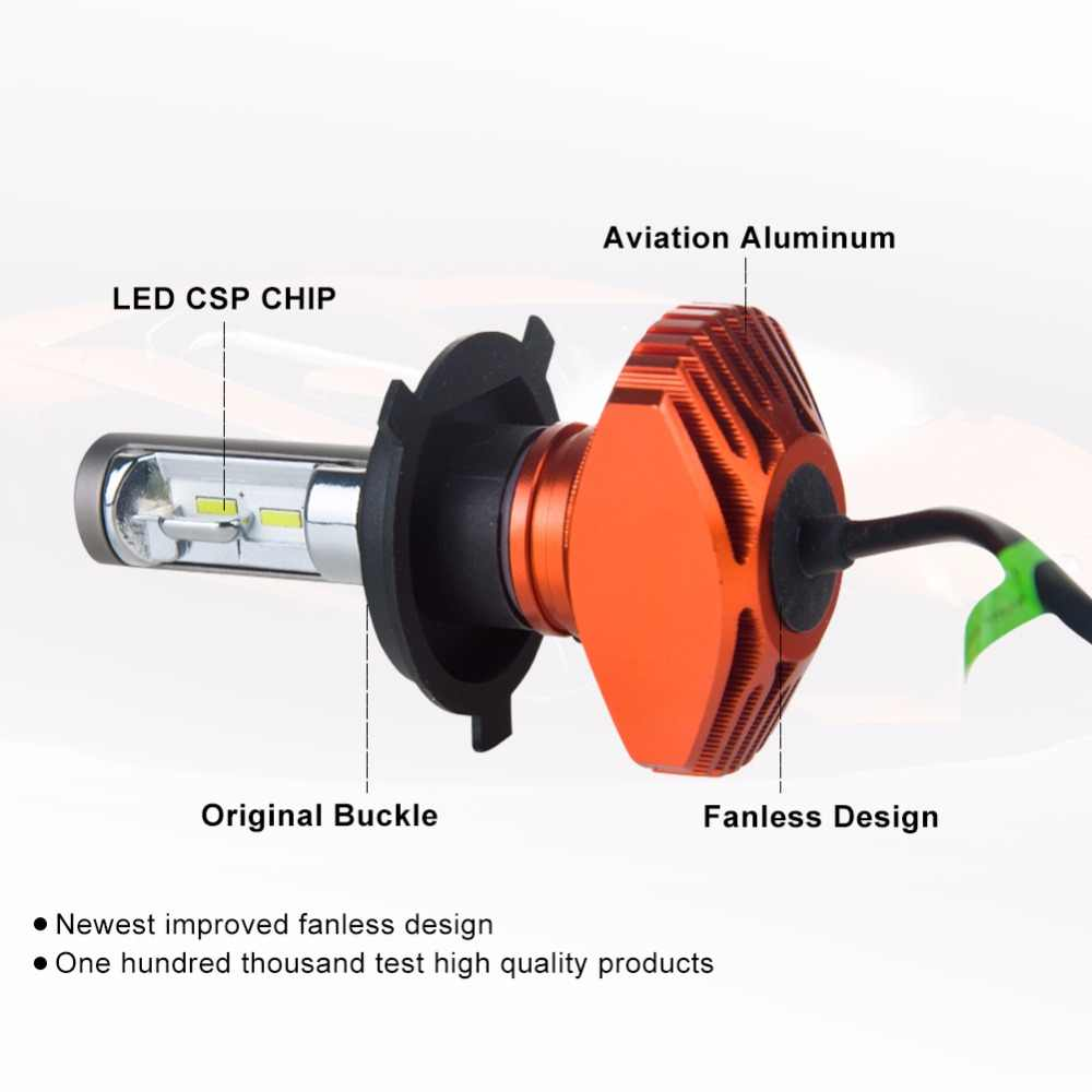 AcooSun 2 Pcs Car Headlight S1 H7 LED H4 H1 H3 H8 H11 H13 H27 880 9004 9005 9006 9007 40W 8000LM Auto Headlamp 6500K Light Bulb