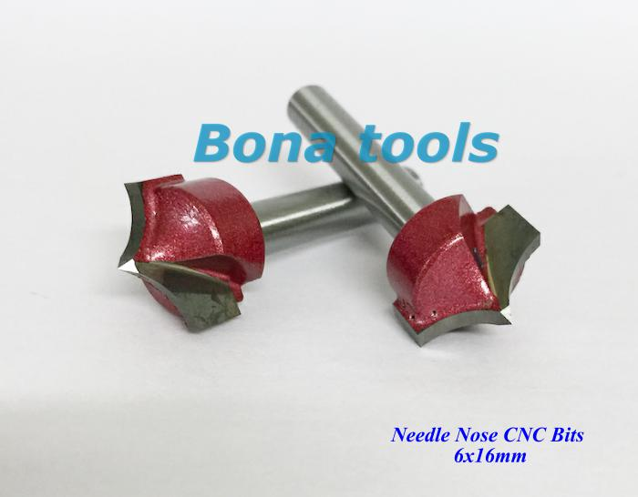 6*16MM - Tungsten Carbide Needle Nose CNC Cutters For Wood,Carving bits,China CNC Router Bits Endmill / Engraving Router Bits
