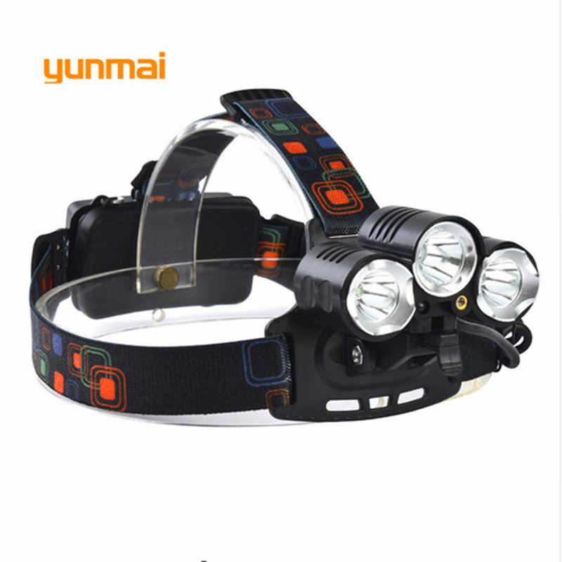 9000Lm CREE XML T6 + 2Q5 Led-scheinwerfer-scheinwerfer Kopf Lampe Licht 4-mode taschenlampe + 2x18650 batterie + EU/US/UK/AU auto-ladegerät fischer Licht