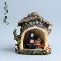 Hayao Miyazaki A Viagem de Chihiro Kaonashi Estatueta de Resina Crianças Brinquedos Japão Anime Studio Ghibli Sem Rosto LEVOU Luz Modelo Figura de Ação