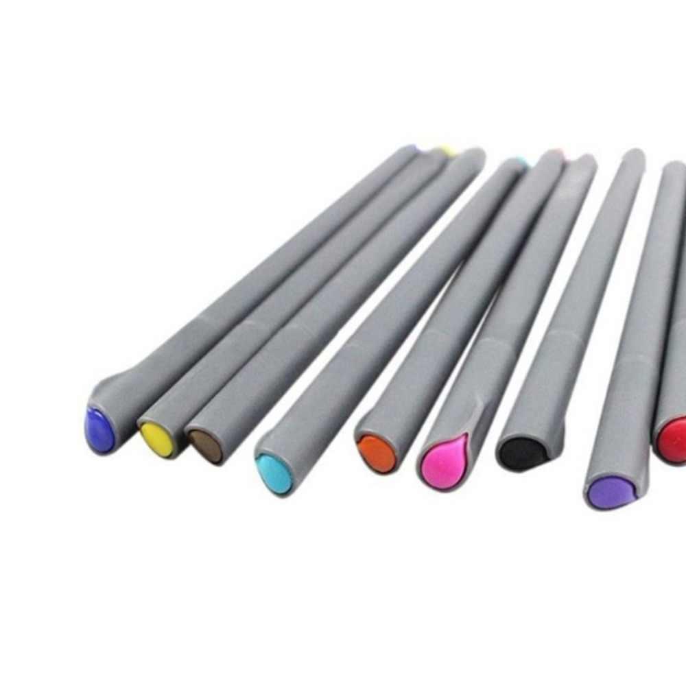 10 Pcs 0.38 มม.Fine Lineปากกาวาดภาพเจลปากกาจิตรกรรมชุดเครื่องมือสำนักงานโรงเรียนอุปกรณ์ศิลปะดินสอDropการจัดส่ง