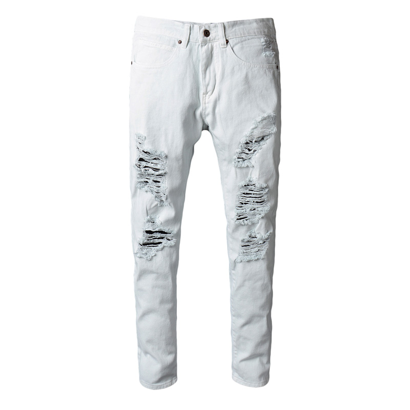 street wear pants  New men's jeans ripped jeans for men skinny Distressed slim famous brand designer biker hip hop swag white cn 0ptnpf 0ptnpf ptnpf main board for dell inspiron 3421 5421 laptop motherboard 1017u cpu ddr3