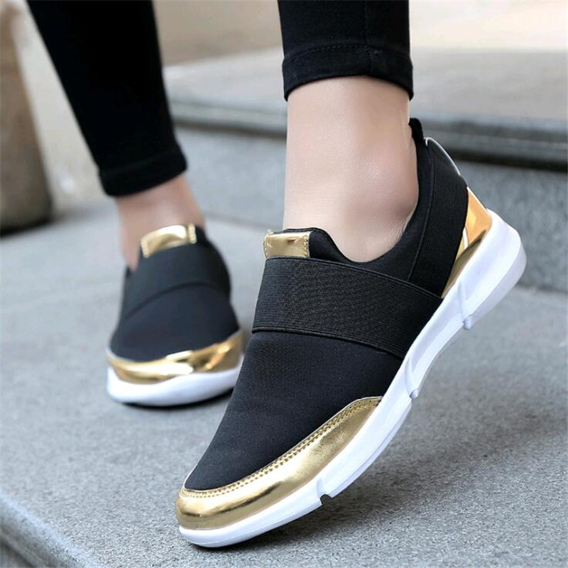 2018 brand mesh breathable Summer shoes women loafers Slip on casual Shoes ultralight flats shoes New zapatillas shoes size35-4