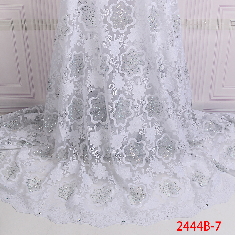 New Design African Lace High Quality French Lace Fabric With Stones 2019 African Lace Fabric for
