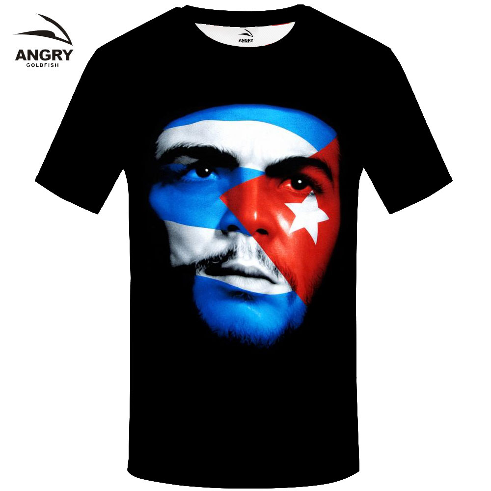 Men's Clothing T-shirts Che Guevara Cuba Flag T Shirt Character Print T-shirt Fashion Casual Fitness Cool O-neck Mens T Shirt Summer Short Sleeve T