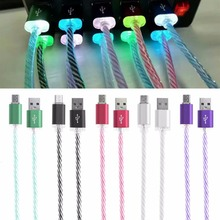 LED Light Micro USB Charger Cable Charging Cord For Samsung S7 S6 LG G4 G3 Android Phone