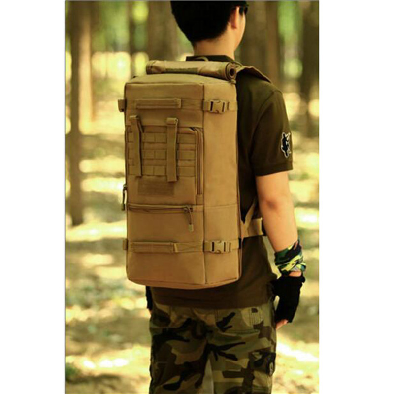 60L Men Women Military Backpacks Waterproof Nylon Fashion Male Laptop Backpack Casual Female Travel Rucksack Camouflage Army Bag 55l men military backpack women casual laptop back bag large capacity male travel rucksack nylon black army backpack 2017