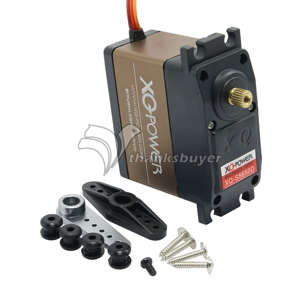 XQ-POWER XQ-S5650D Brushless Digital Servo 60kg/8.5V for RC Model xq power 16 9kg 56g digital servo xq s4116d high voltage 8 5v with titanium gear aluminum case