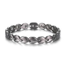 Mesinya 99.99% Германий бусины Титан здоровая терапия модная цепочка браслет для мужчин женщин подарок ювелирных изделий