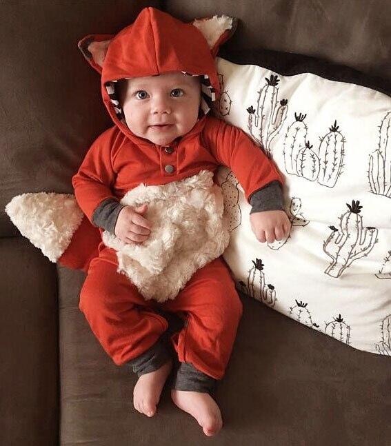 Комбинезон для новорожденных девочек, осенне-зимний милый комбинезон с длинными рукавами и капюшоном, милый теплый комбинезон с изображени...