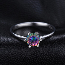 Natural Mystic Fire Rainbow Topaz Ring Engagement Wedding Ring Solid 925 Sterling Jewelry Fine Jewelry Women Ring