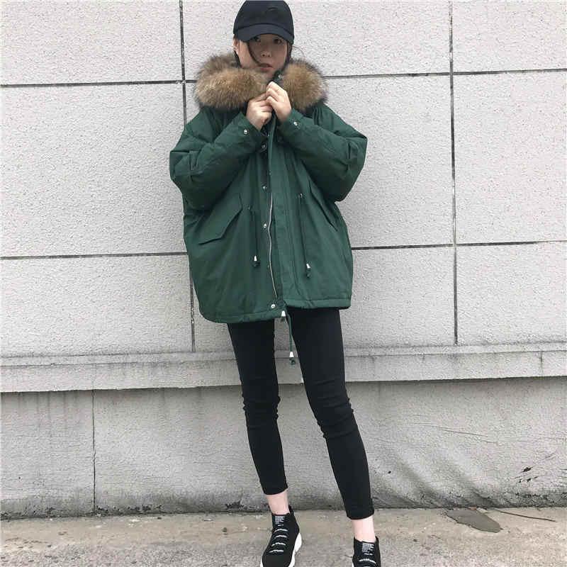 Негабаритные пальто с капюшоном меховой воротник зимняя куртка Женская Толстая хлопковая военная куртка Chaqueta Mujer BF Стиль длинная парка C4802