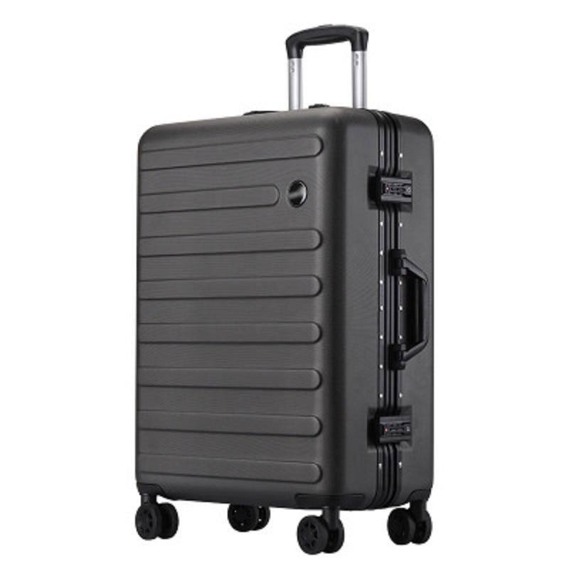 Bagaj ve Çantalar'ten Tekerlekli Bagaj'de Süper hafif 100% alüminyum çerçeve Haddeleme Bagaj Özelleştirilmiş iş düz renk aşınmaya dayanıklı Bavul'da  Grup 1