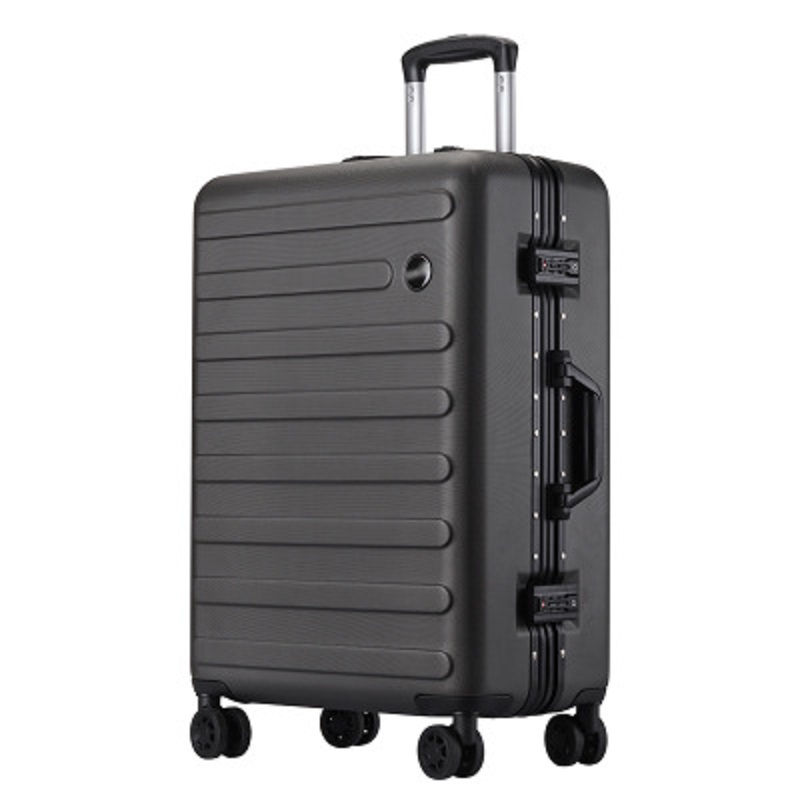 Super light 100% aluminum frame Rolling Luggage Customized business solid color wear resistant Suitcase