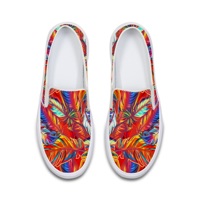 2018 Spring Loafers Women Flat Shoes Fashion Summer Slip on Gilrs School Shoes Footwear Ladies Printing Canvas Platform Shoes