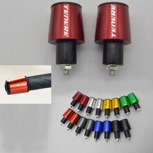 CNC 22mm XT660Z Tampa Guiador Grips Handle Bar End Plugs para YAMAHA Tenere 2008-2015 XJ 600 N S 1995-2002 XJ 600 s com O Logotipo
