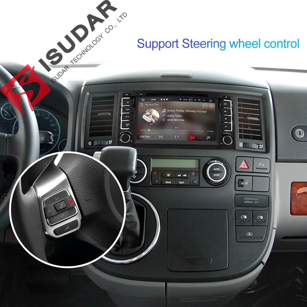 Isudar 2 Din Auto Radio Android 9 For Volkswagen/Touareg Octa Core RAM 4G ROM 64GB Car Multimedia DVD Player GPS USB DVR FM DSP