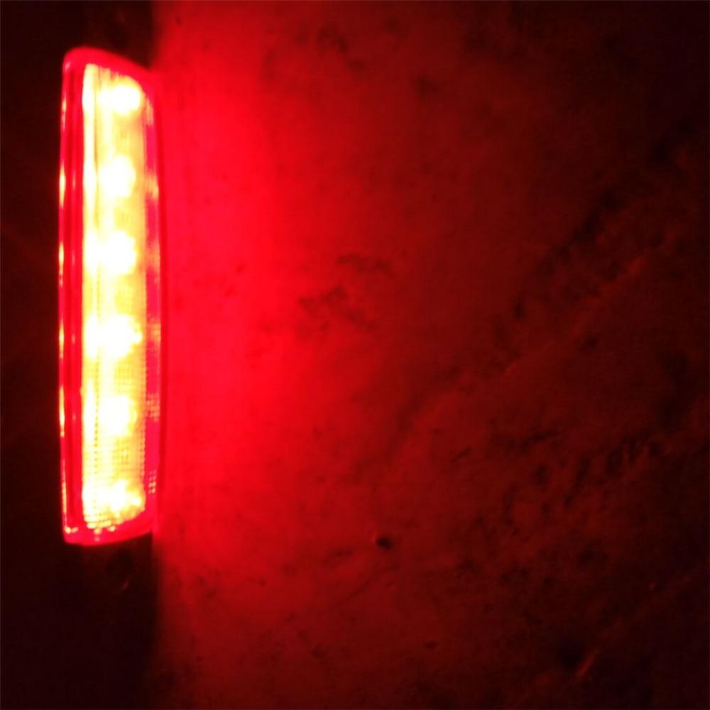 10x 12V SMD 6 LED Red Rear Side Marker Lights Position for Truck Trailer Lorry