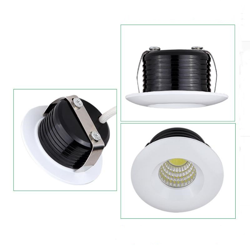 10 pieces 5W 110V 220V foyer living micro small ceiling white miniature spot dimmable mini COB LED downlight 3W down light