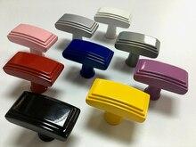 Colorful Drawer Knobs Kitchen Cabinet Dresser Handle Kids Cupboard Children Blue Yellow Red Pink Black White