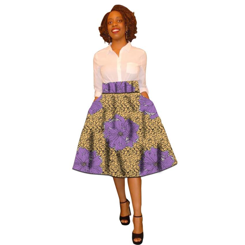 African clothing women print skirts Ankara fashion outfit customized wedding wear female Ankara skirt