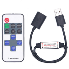 цена на 11 Keys LED Strip Controller Mini Dimmer RF Remote 5V USB interface Controller For 5050/2835 ws2812 ws2811 Single Color