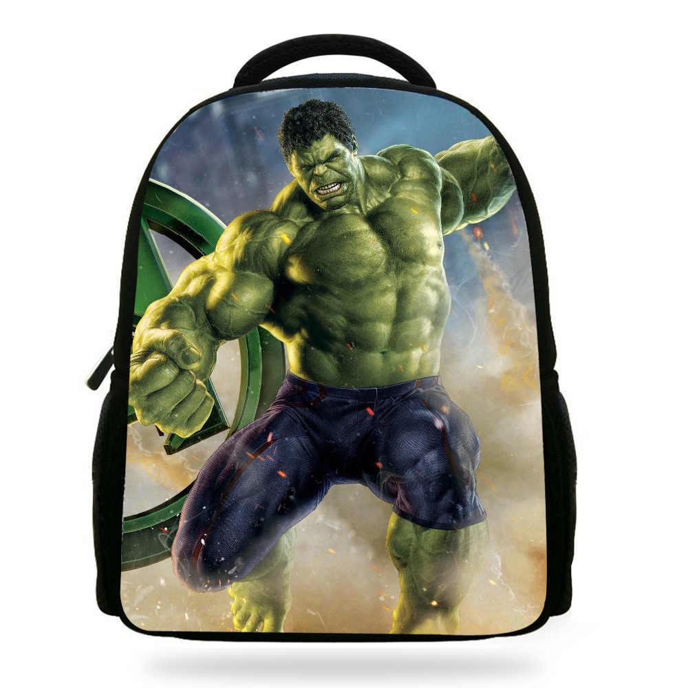 657a501bf74 14 inch Mochila School Kids Tassen Jongens Hulk Rugzak Kleuters Schooltas  Hulk Avengers Print Tas