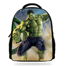 14inch Mochila School Kids Bags Boys Hulk Backpack Kindergarten Children School Bag Hulk Avengers Print Bag