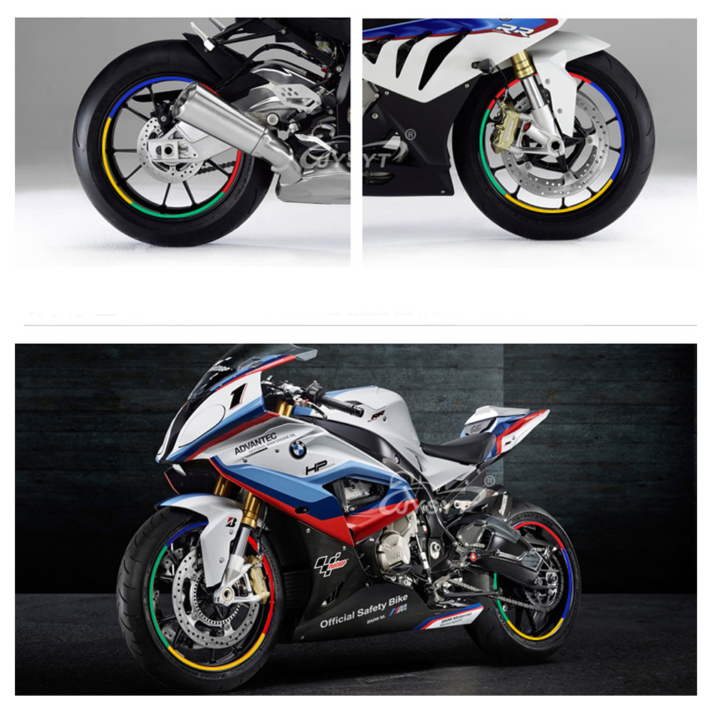 Car Stickers 17 Or 18 Inch 7 Colors Reflective Motorcycle