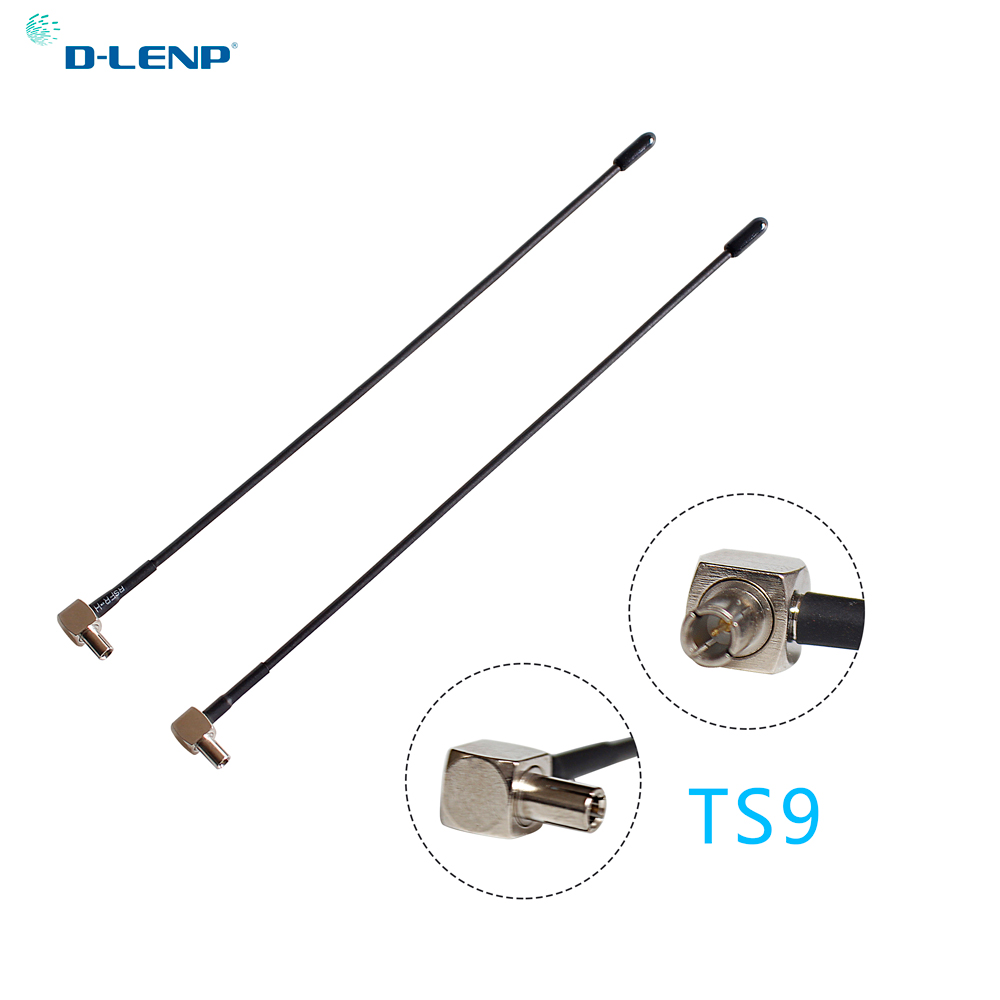 Dlenp 2pcs/lot 4G Lte Antenna For WiFI Router With Ts9 Conenctor 5dbi For Huawei E398 E5372 E589 E392 Zte MF61 MF62 Aircard 753s