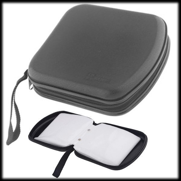 by dhl or ems 100 pcs portable plastic 40 capacity disc cd dvd storage case bag