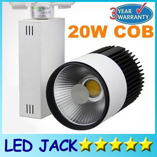 X20 New Arrival Led Track Light COB 20W Led Ceiling Spotlight 120 Beam angle AC 85-265V led spot lighting  + CE ROHS CSA UL