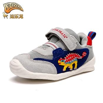 bde0dee13 DINOSKULLS/детская обувь с динозавром для мальчиков от 1 года до 3 лет,  легкая мягкая дышащая подошва, Осень-зима, Детские Сникеры, Нескользящие