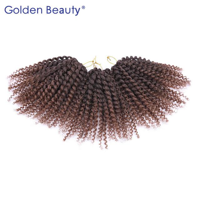 3pcs/set 8inch 12inch Curly Crochet Hair Extensions Synthetic Braiding Hair Crochet Twist Braid Hair