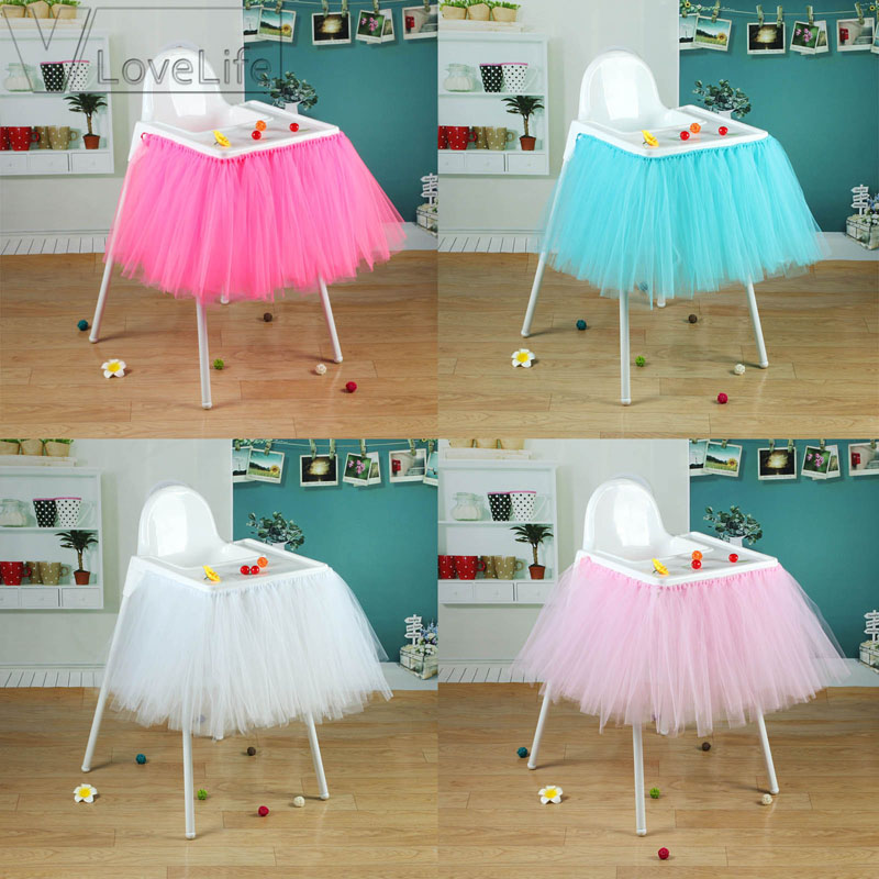 Turquoise Tutu Skirt Tulle Chair Skirts Baby Shower Boy Birthday Party DIY  Chair Decoration Table Skirt 100cm X 35cm In Party DIY Decorations From  Home ...