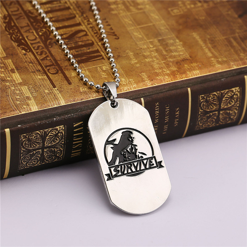 ORNAPEADIA Game Peripheral products Horizon Zero Dawn Survive Necklace pendant Army card Necklace accessories wholesale