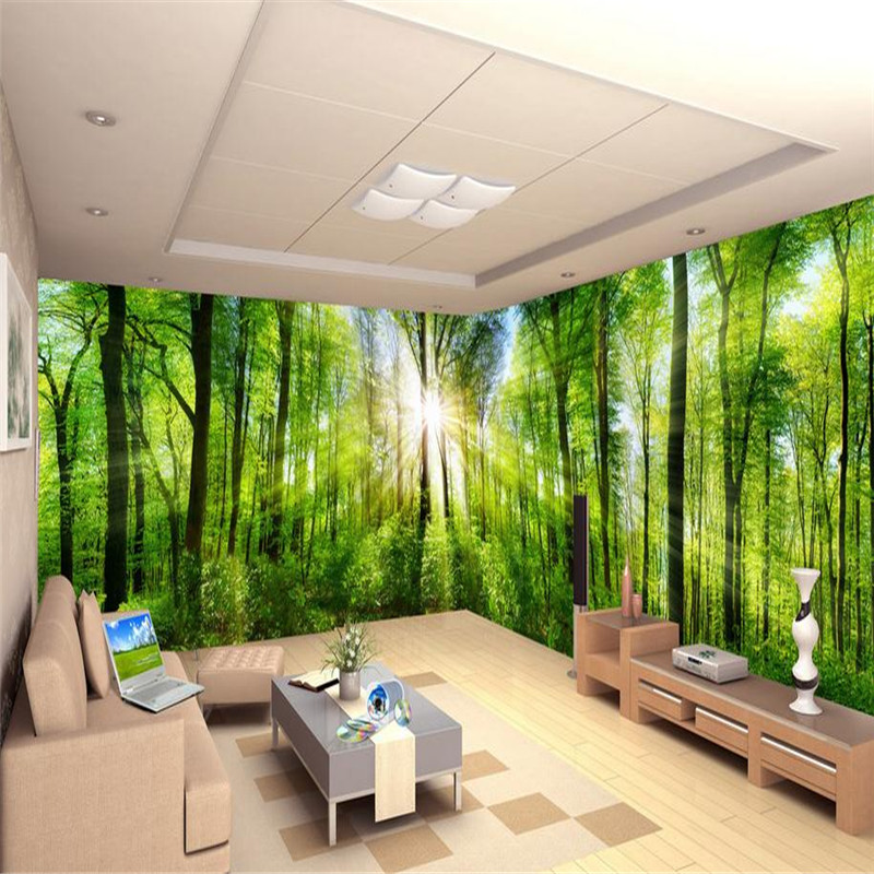 3d modern custom high quality photo wallpaper fresh nature landscape indoors wall mural primeval forest sunlight wallpaper titian a fresh look at nature