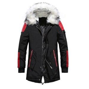 Image 3 - Fgkks masculino parka algodão grosso jaqueta 2020 inverno nova moda quente jaquetas de lã casacos de gola de pele dos homens parkas