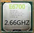 Original lntel CPU Core2 E6700 CPU 2.66 GHz 775pin/4 MB Cache Dual-CORE 65 W scrattered peças (trabalhando 100% Frete Grátis)