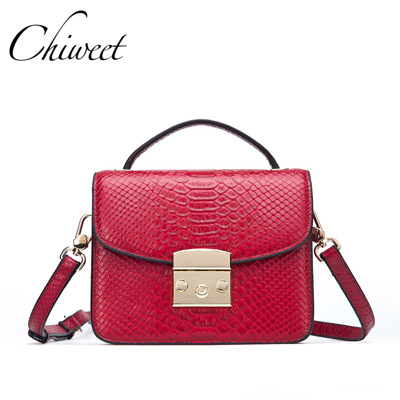 Famous Brands 2017 Genuine Leather Small Crossbody Bags Women Designer Handbags High Quality Tote Skin Print Luxury Shoulder Bag