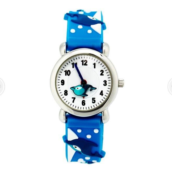 2018 High quality waterproof Kids Children Quartz Wrist Watch Wristwatch Slap On Silicone Band Analog Cute fish watches children s knitting silicone bands diy quartz analog bracelet wrist watch orange 1 x 377
